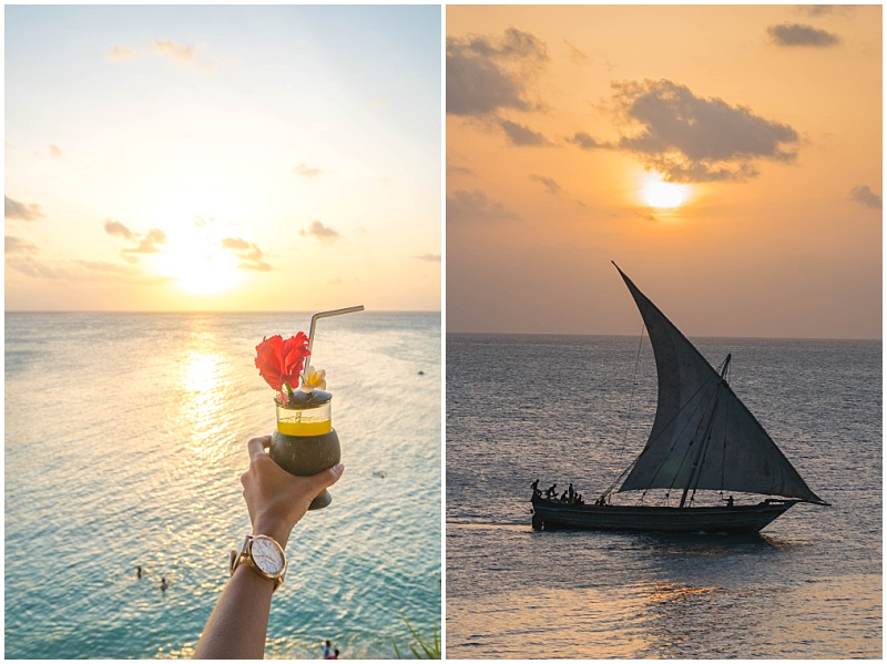 Zanzibar boat and cocktail