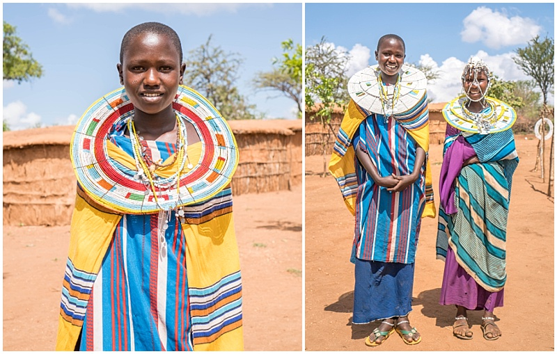 Maasai girls traditional dress