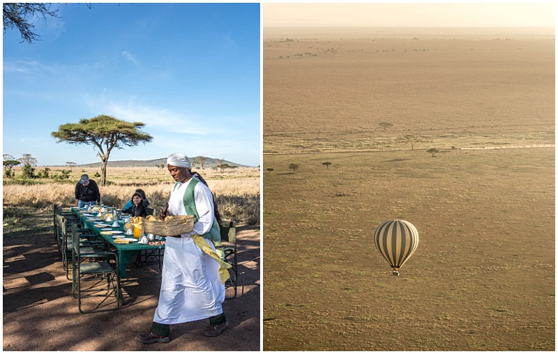 hot air balloon over East Africa