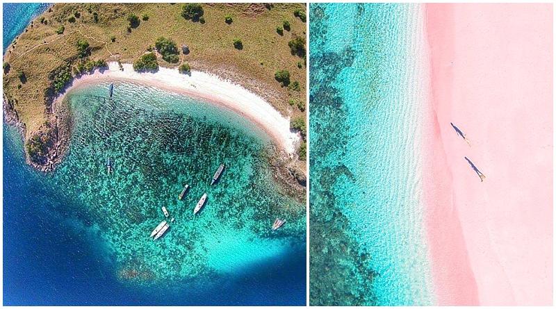 Rinca island pink beach