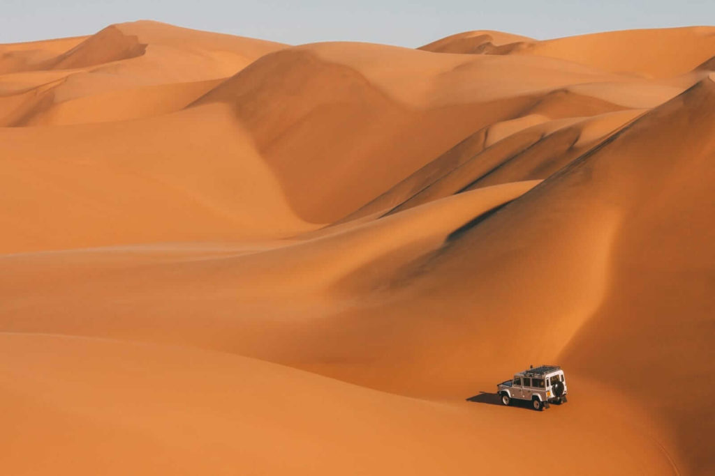 Hand-Luggage-Only Namibia sand dunes
